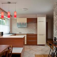 The spacious kitchen-dining room