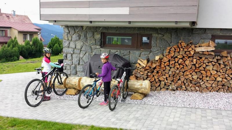 Cyklisté vítání Apartmány Benecko