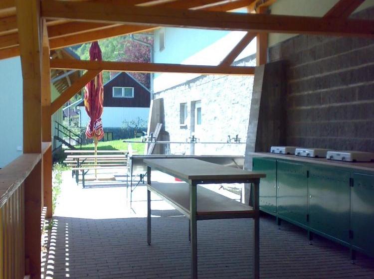 Venkovní kuchyňka pro kemp, chatky
