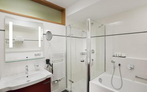 Hotel Vitality Dvoulůžkový pokoj koupelna