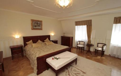 Spa Hotel Schlosspark Apartmá Venezia - ložnice