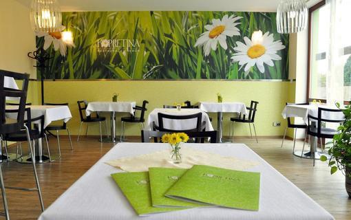 Design hotel RomantiCK Řízková restaurace Kopretina.