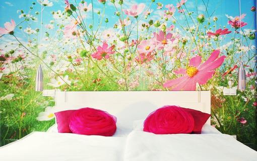 Design hotel RomantiCK Lehněte si u nás do rozkvetlé louky. Pokoj klasik Kohoutek luční.