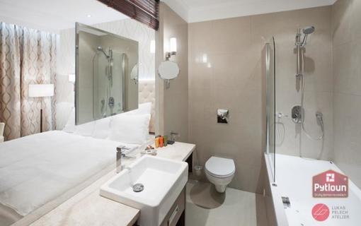 Pytloun Wellness Hotel Harrachov Koupelna s vířivou vanou