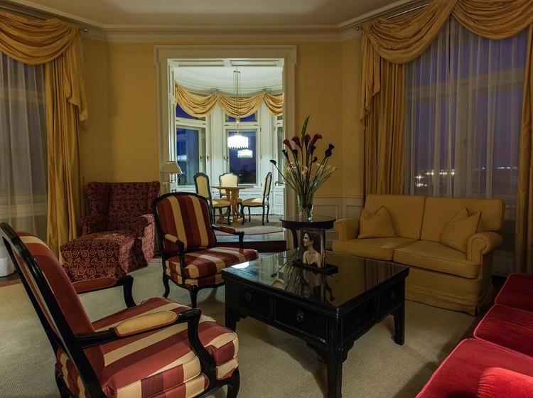 Obývací pokoj v Le Palais apartmánu