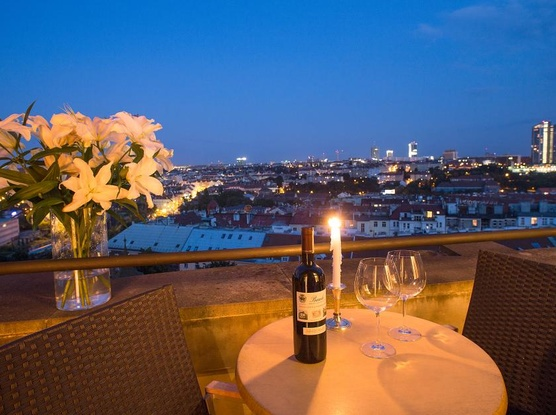 Le Palais Art Hotel Praha Balcon apartmán s krásným výhledem
