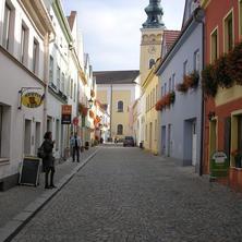 Kostelní ulice historické centrum N.Jičína