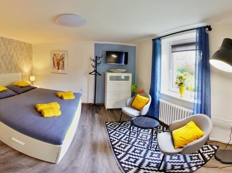 Ložnice apartmánu