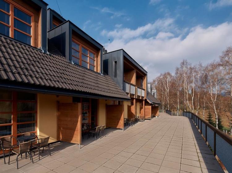 Dvoulůžkový pokoj s terasou - Wellness hotel Říčky