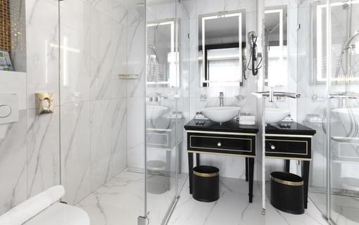 Hotel Zlatý Kľúčik kúpeľna v superior izbe