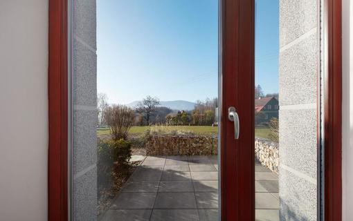 Hotel Slunný dvůr Resort Slunný dvůr, výhled na panorama Hrubého Jeseníku