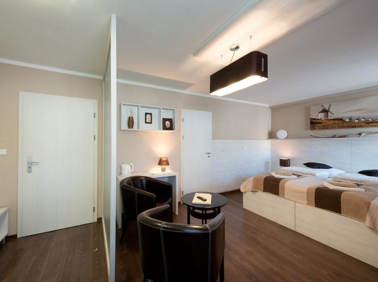 Obývací pokoj s ložnicí Apartmá A6