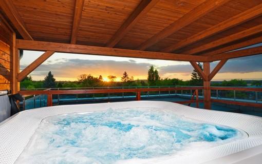 Luxusní pobyt s vířivkou na privátní terase-HOTEL AURA PRAHA design & garden wellness pool 1154287779