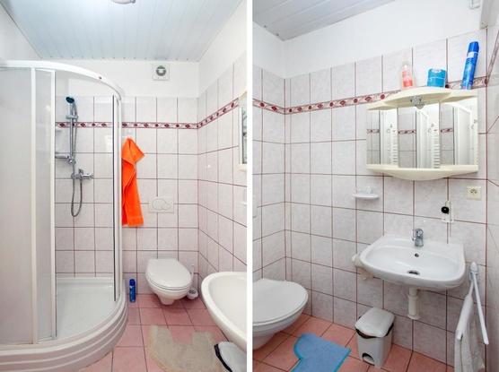 Ubytování v Brně Koupelna s WC v těsné blízkosti pokoje