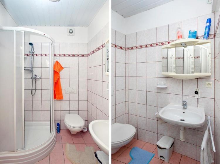 Ubytování v Brně Koupelna s WC v těsné blízkosti pokoje 2