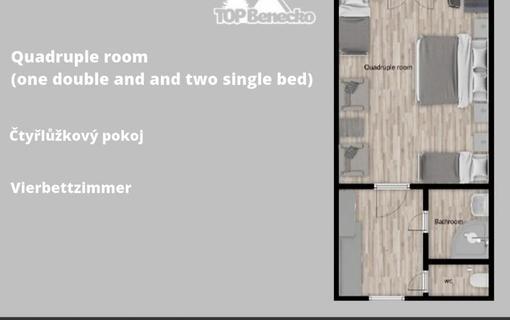 ProFamily Hotel TOP Čtyřlůžkový pokoj