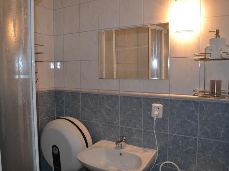 Koupelna s toaletou v pokoji č.1