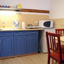 Kuchyň a jídelna, čtyřlůžkový apartmán